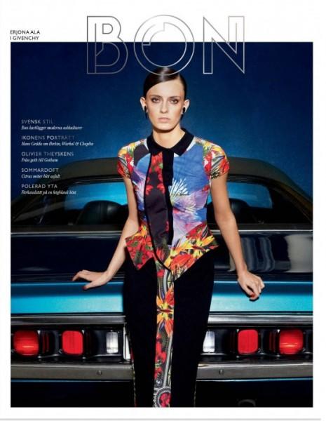 Bon Pre-Fall 2012 Covers   Erjona Ala & Hedvig Palm by Marcus Ohlsson