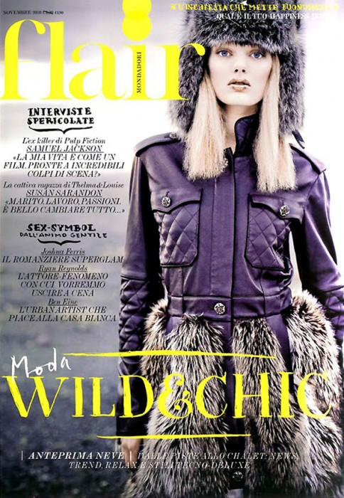 Flair November 2010 Cover | Bregje Heinen by Jean-François Campos