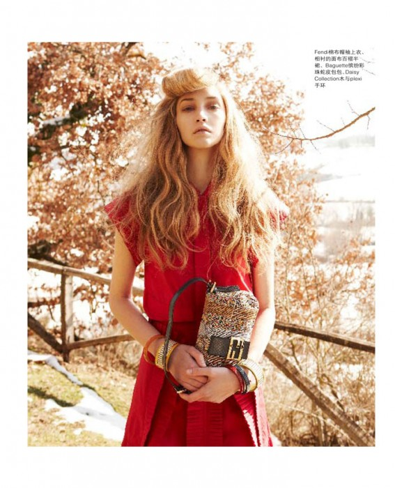 Brittany Hollis by Wee Khim in Fendi for Nuyou Singapore April 2012