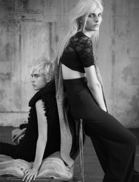 Andrej Pejic & Jana K for <em>Vogue Turkey</em> November 2010 by Matthew Brookes