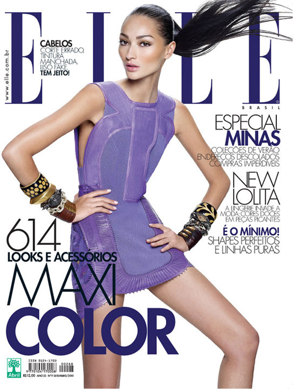 Elle Brazil September 2010 Cover | Bruna Tenorio by Gui Paginini