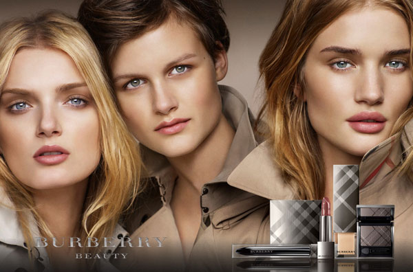 Burberry Beauty 2010 Campaign | Rosie, Nina & Lily by Mario Testino