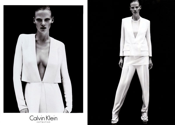 Calvin Klein Spring 2011 Campaign Preview | Lara Stone by Mert & Marcus