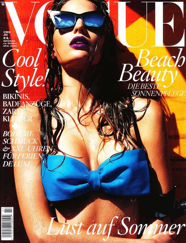Vogue Germany July 2010 Cover | Cameron Russell by Greg Kadel