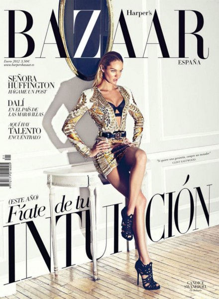 Candice Swanepoel Covers <em>Harper's Bazaar Spain</em> January 2012 in Balmain
