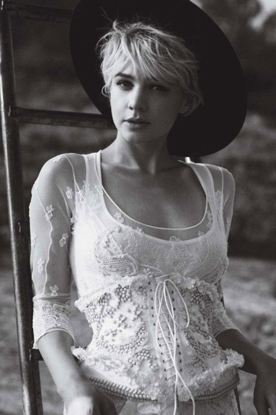 Carey Mulligan for <em>Vogue US</em> October 2010 by Peter Lindbergh
