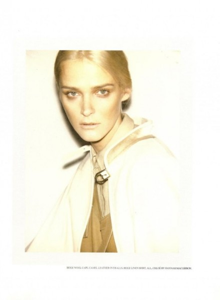 Carmen Kass by Ezra Petronio for <em>Self Service</em> Spring 2010