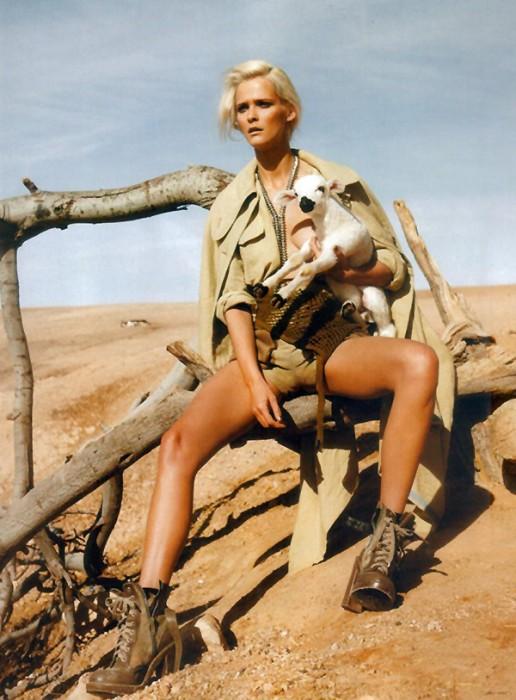 Carmen Kass by Mark Pillai in Heat Seeker | Harper's Bazaar UK June 2010