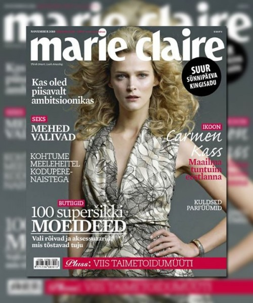 Marie Claire Estonia November 2010 Cover | Carmen Kass