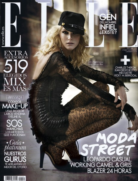 Elle Spain October 2010 Cover | Carmen Kass by Mario Sierra