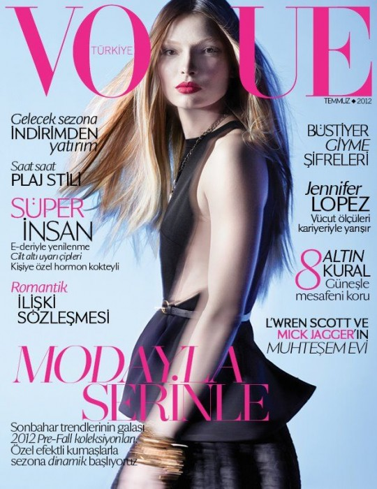 Carola Remer is Sleek & Modern for Vogue Turkey's July 2012 Cover