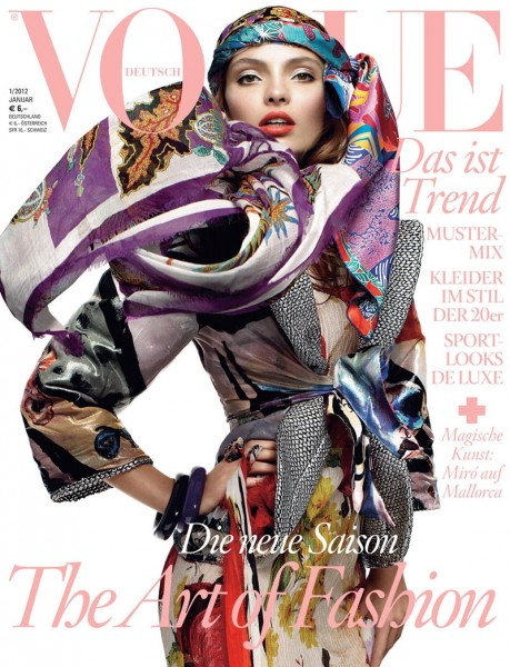 Vogue Germany January 2012 Cover | Carola Remer by Greg Kadel