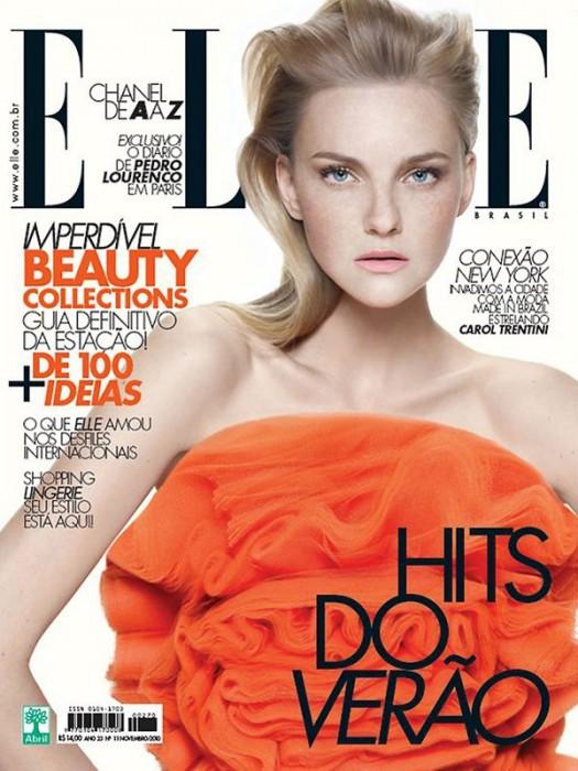 Elle Brazil November 2010 Cover | Caroline Trentini