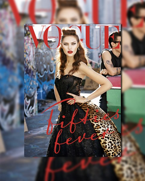 <em>Vogue Australia</em> September 2010 Cover | Catherine McNeil by Max Doyle