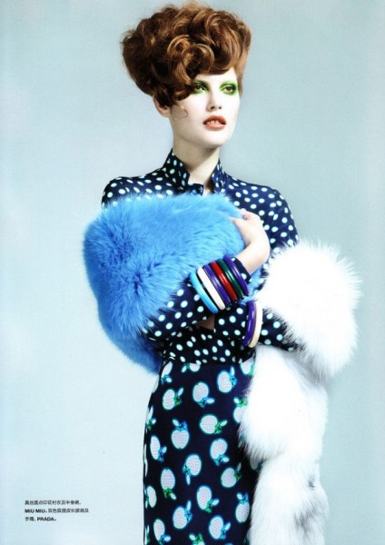 Catherine McNeil by Anthony Maule for <em>Numéro China</em> December 2010