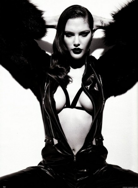 Catherine McNeil is a 'Femme Fatale' for Vogue Germany