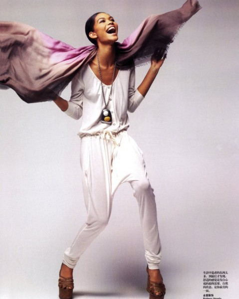 Chanel Iman by Thomas Schenk for <em>Vogue China</em> June 2010