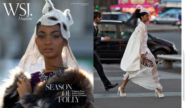 Chanel Iman by Hans Feurer for WSJ December 2011