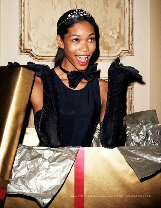 H&M Magazine Winter 2009 | Chanel Iman by Terry Richardson