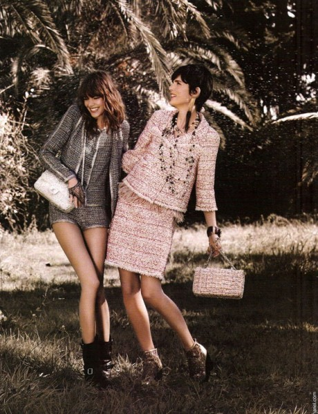 Chanel Spring 2011 Campaign   Freja Beha Erichsen & Stella Tennant by Karl Lagerfeld