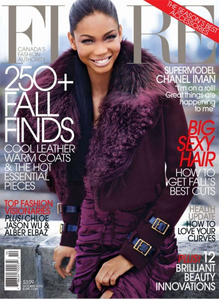 <em>Flare</em> October 2010 Cover | Chanel Iman by Max Abadian