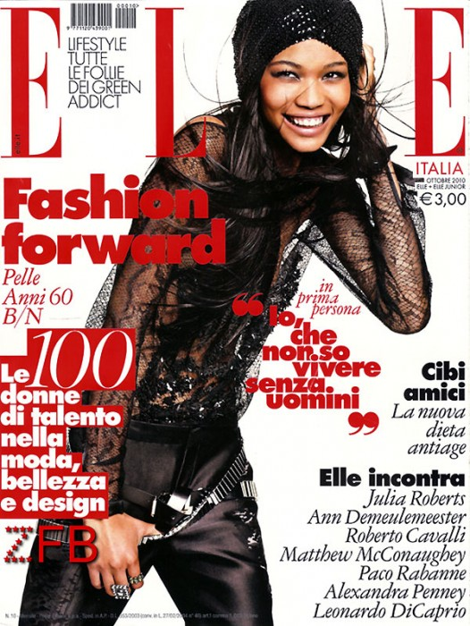 Elle Italia October 2010 Cover | Chanel Iman