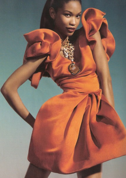 Vogue Spain February | Chanel Iman by Michelle Ferrara