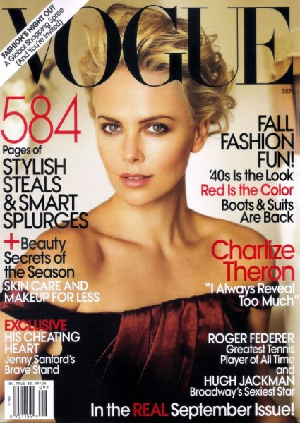 Vogue US September 2009 – Charlize Theron by Mario Testino