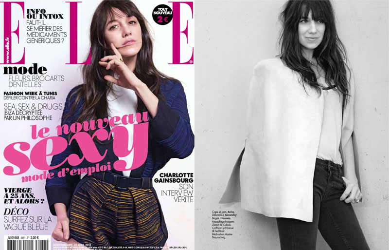 Charlotte Gainsbourg by Kate Barry for Elle France