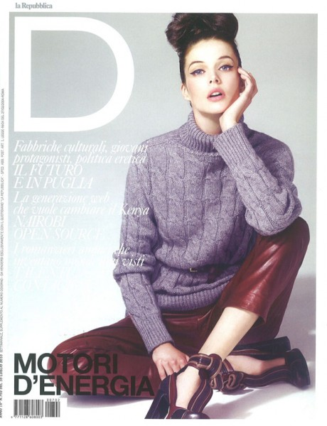 D La Repubblica July 10, 2010 Cover | Charon Cooijmans by Andrew Yee
