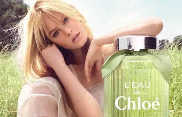 "Camille Rowe for Chloé ""L'eau De Chloé"" Fragrance Campaign by Camilla Akrans"