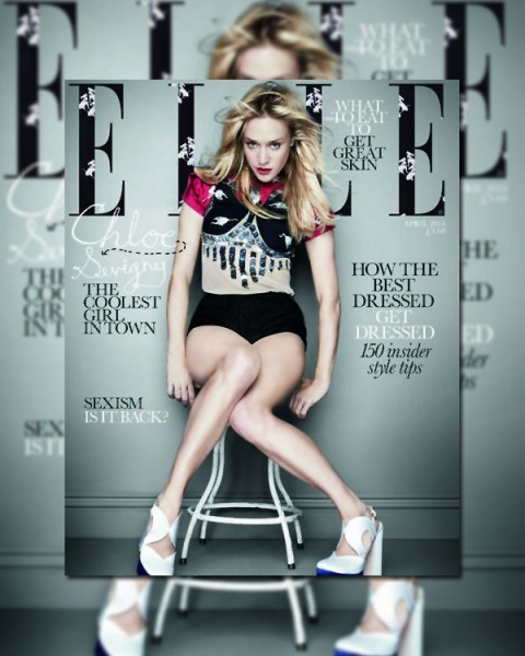 Elle UK April 2010 Cover    Chloë Sevigny by Rankin