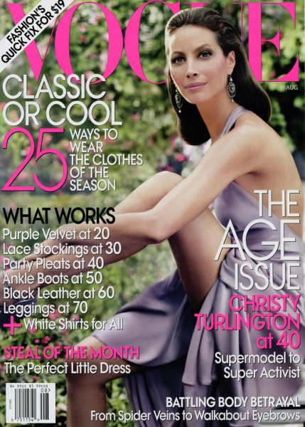 US Vogue August 2009 – Christy Turlington