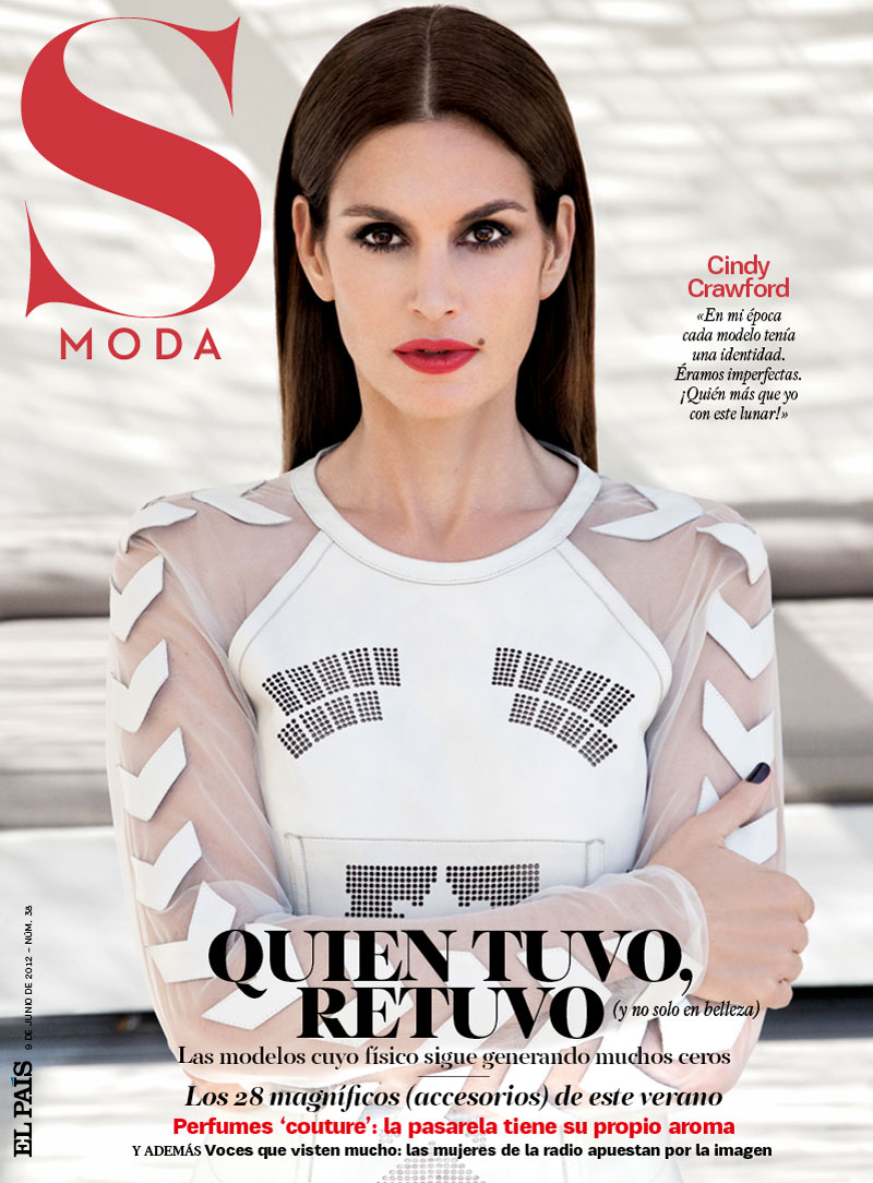 Cindy Crawford Covers S Moda June 2012 in Alexander Wang
