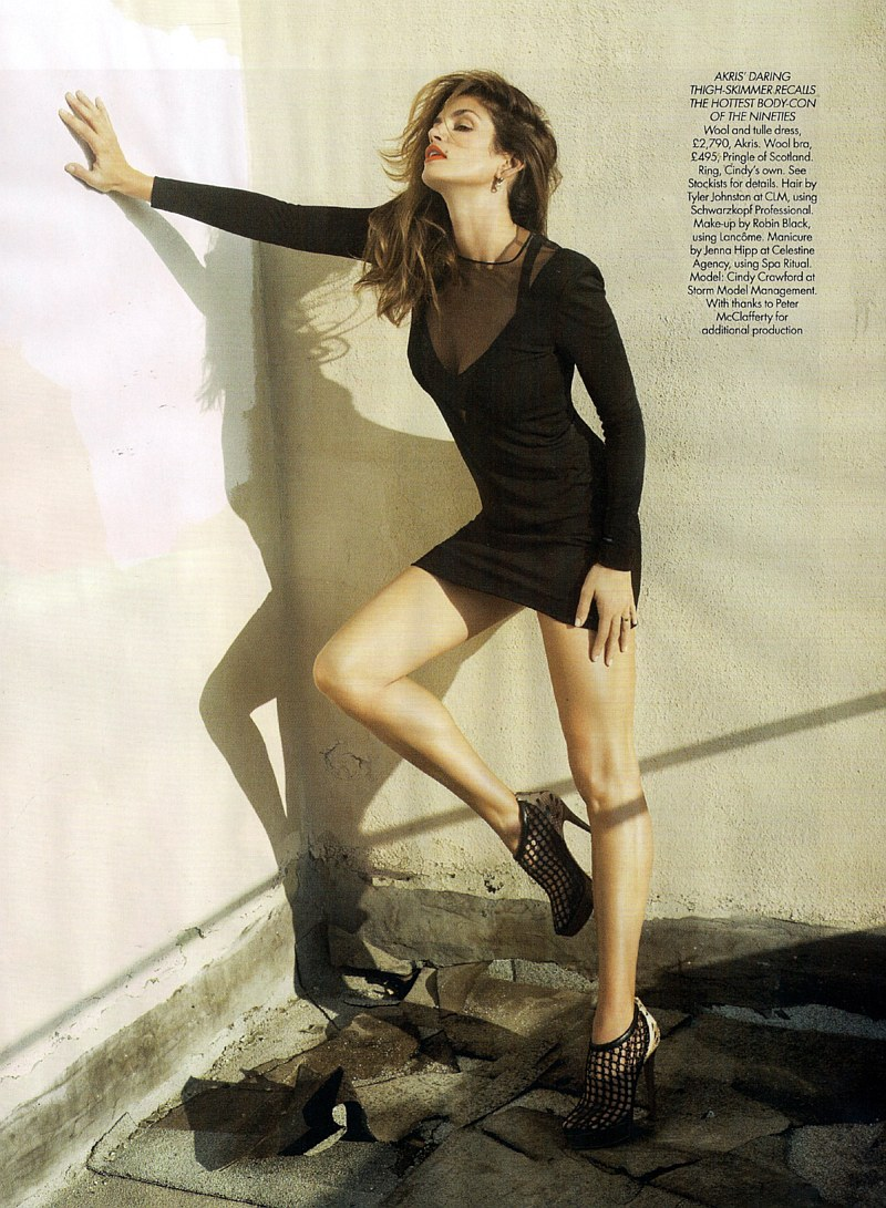 Harper's Bazaar UK March 2010 | Cindy Crawford by Cédric Buchet