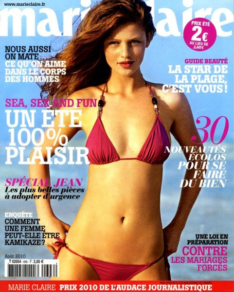 <em>Marie Claire France</em> August 2010 Cover | Cintia Dicker by Emmanuelle Haugel