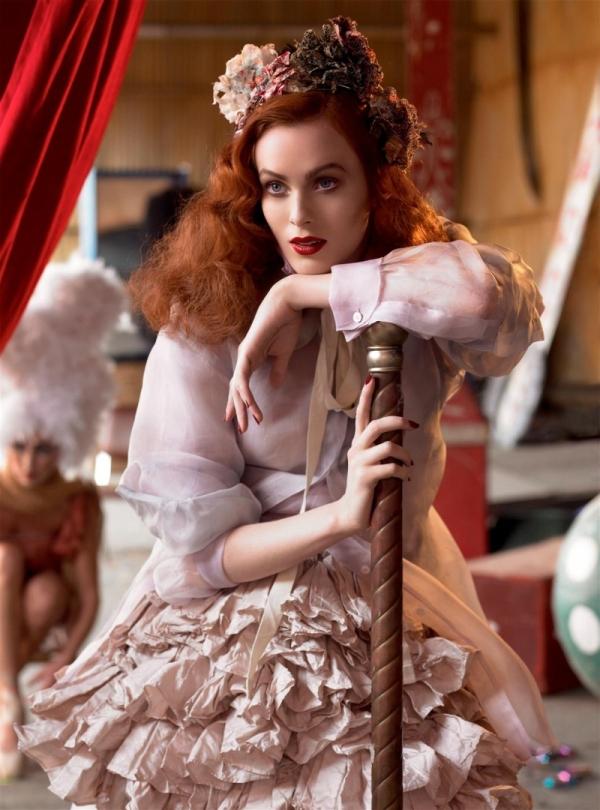 Morning Beauty   Karen Elson by Steven Meisel