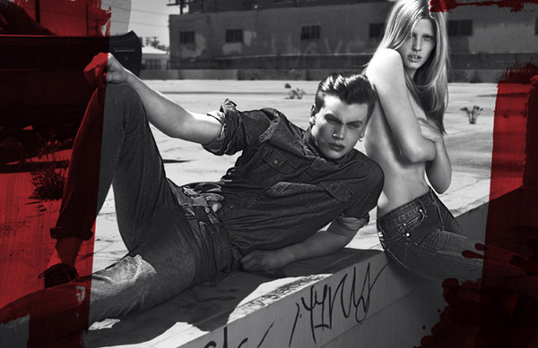 Calvin Klein Jeans Fall 2010 Campaign | Lara Stone by Mert & Marcus