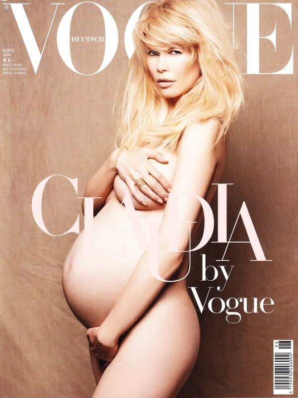 Vogue Germany June 2010 Cover | Claudia Schiffer by Karl Lagerfeld