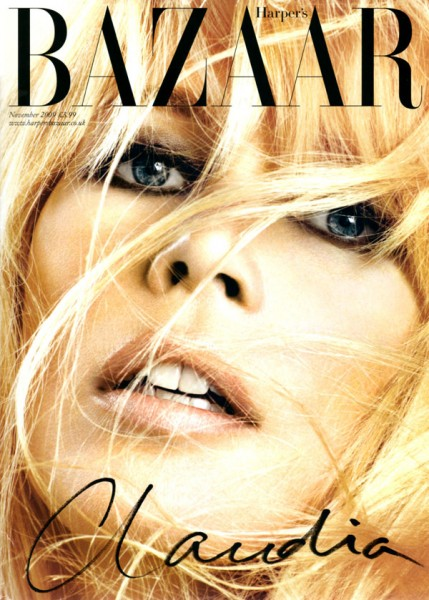 Harper's Bazaar UK November 2009 – Claudia Schiffer by Michelangelo di Battista