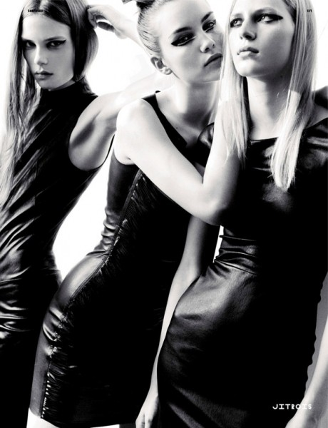 Caroline, Julia N. & Julia S. by Kacper Kasprzyk in World Clique | <em>Dazed & Confused</em> September 2010