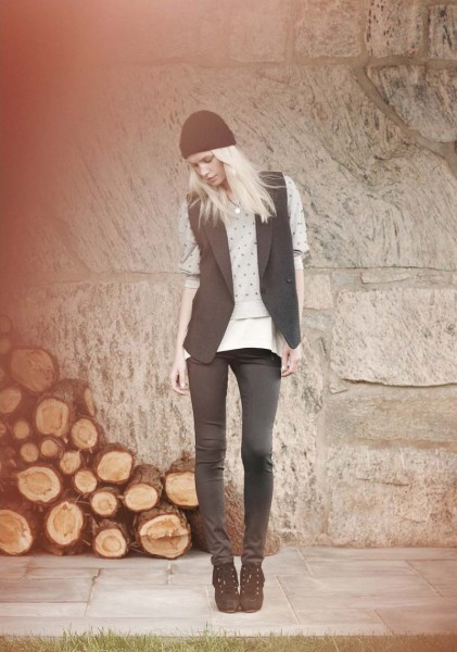 Aline Weber & Othilia Simon for Club Monaco Spring 2012 Lookbook