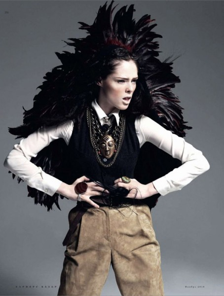 Coco Rocha for <em>Harper's Bazaar Russia</em> November 2010 by Alan Gelati