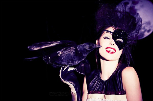Coco Rocha is B Movie Glam for Vs. Magazine by Ellen von Unwerth