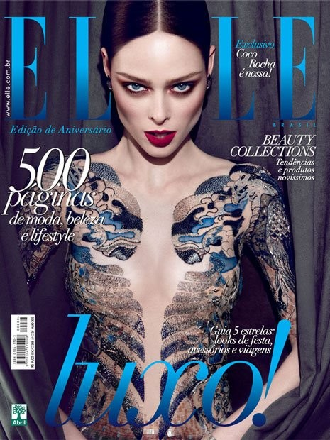 Elle Brazil May 2012 Cover | Coco Rocha by Max Abadian