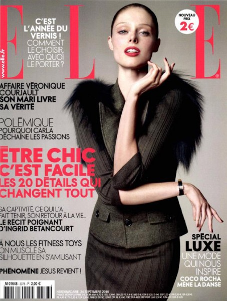 <em>Elle France</em> September 24, 2010 Cover | Coco Rocha