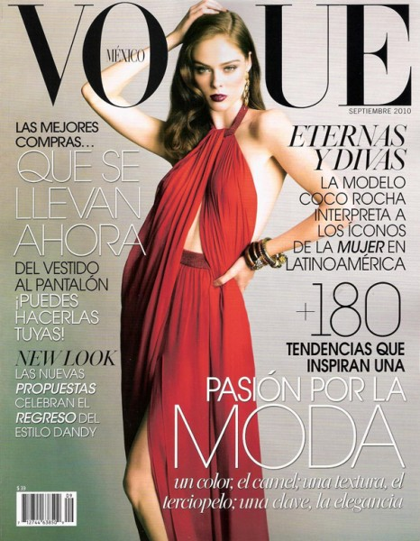 Vogue Mexico September 2010 Cover | Coco Rocha by Tesh