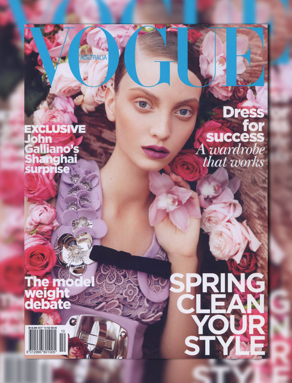 Vogue Australia October 2010 Cover   Codie Young