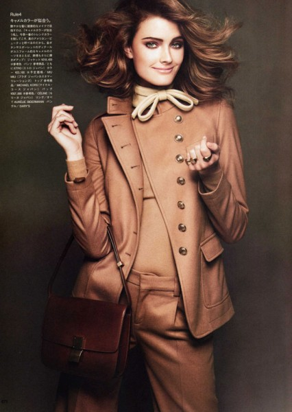Constance Jablonski by Andreas Sjodin in Dress for Success | <em>Vogue Nippon</em> September 2010