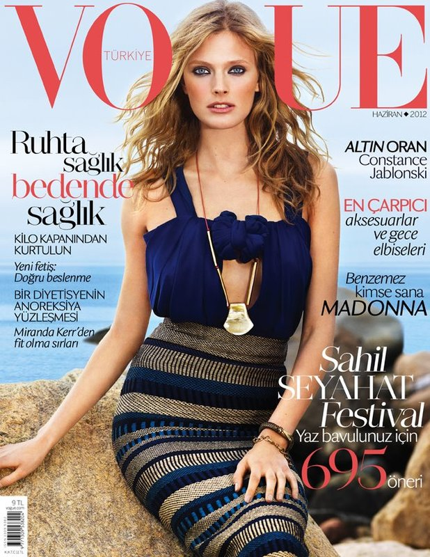Constance Jablonski Hits the Sea in Burberry for Vogue Turkey's June Cover